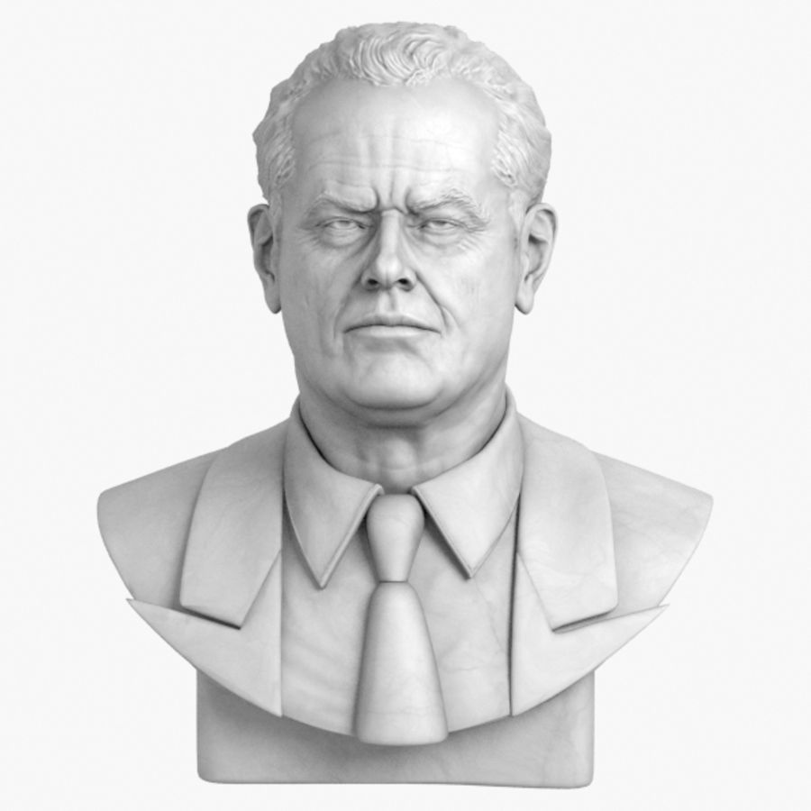 Jack Nicholson Bust royalty-free 3d model - Preview no. 1