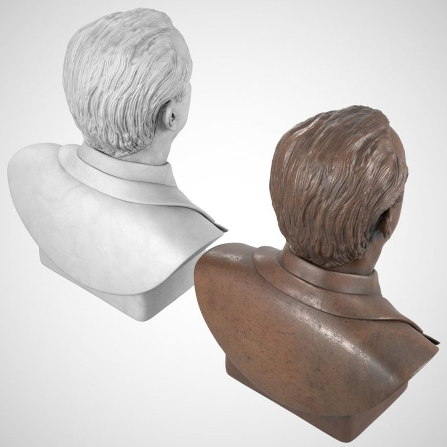 Jack Nicholson Bust royalty-free 3d model - Preview no. 6