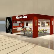 Магазин мороженого 3d model
