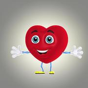 cartoon heart 1 3d model