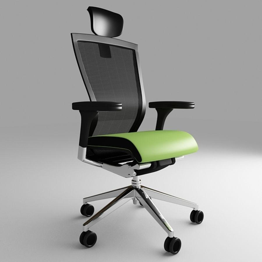 Techo SIDIZ Chair royalty-free 3d model - Preview no. 2