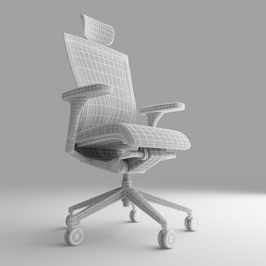 Techo SIDIZ Chair royalty-free 3d model - Preview no. 7