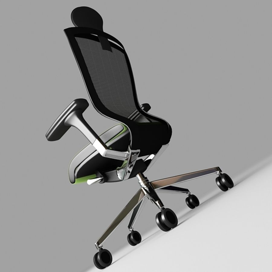 Techo SIDIZ Chair royalty-free 3d model - Preview no. 3