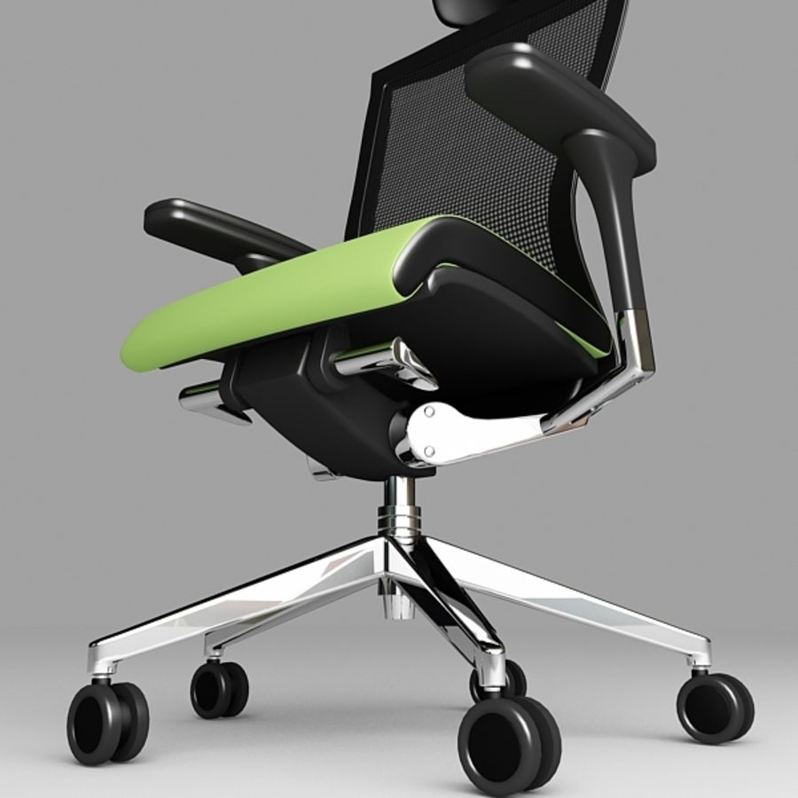 Techo SIDIZ Chair royalty-free 3d model - Preview no. 6