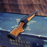 Dwubelkowa strzelba + kule 3d model