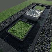 Сад - Фонтан 3d model