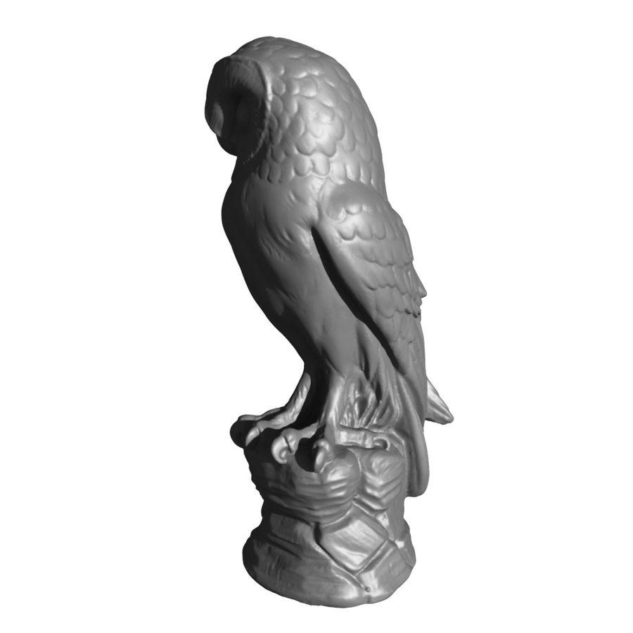 猫头鹰雕像3D扫描 royalty-free 3d model - Preview no. 10