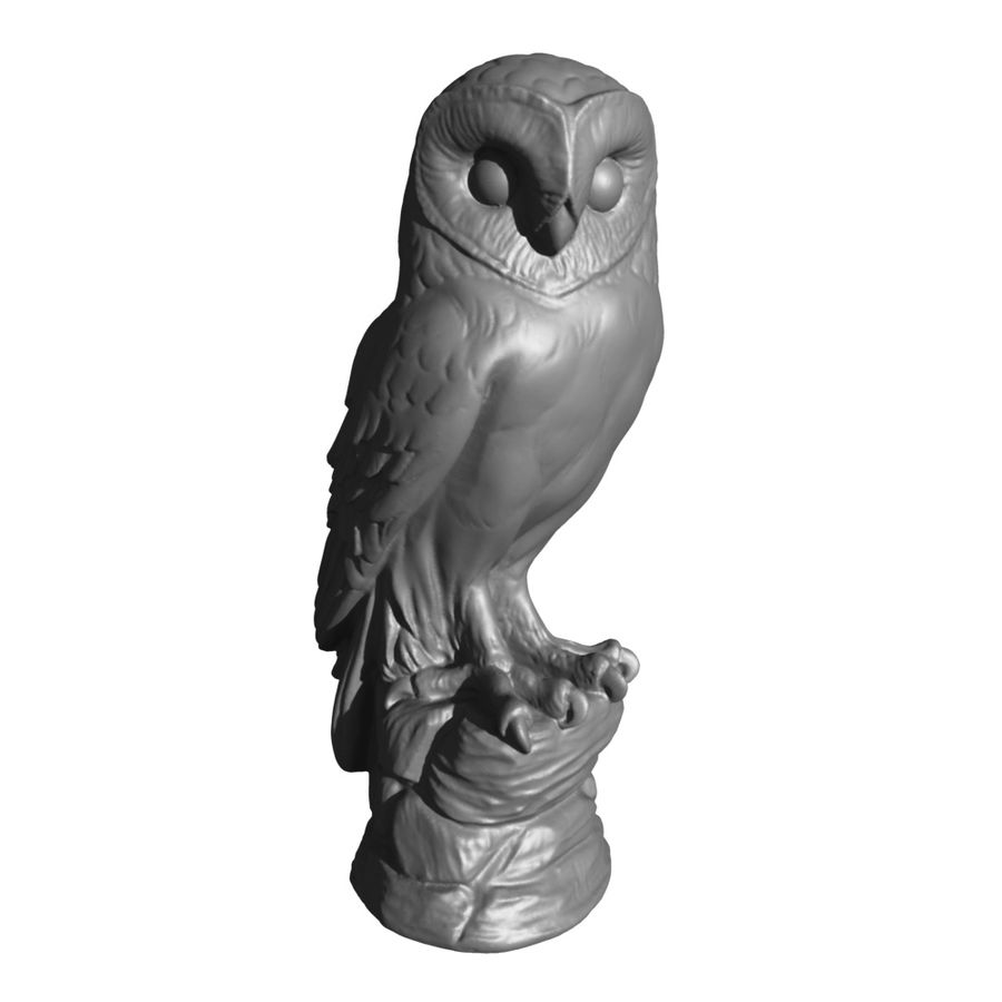 Owl Statue 3D Scan royalty-free 3d model - Preview no. 9