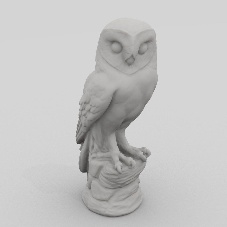 Owl Statue 3D Scan royalty-free 3d model - Preview no. 1
