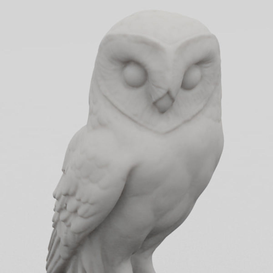 Owl Statue 3D Scan royalty-free 3d model - Preview no. 2
