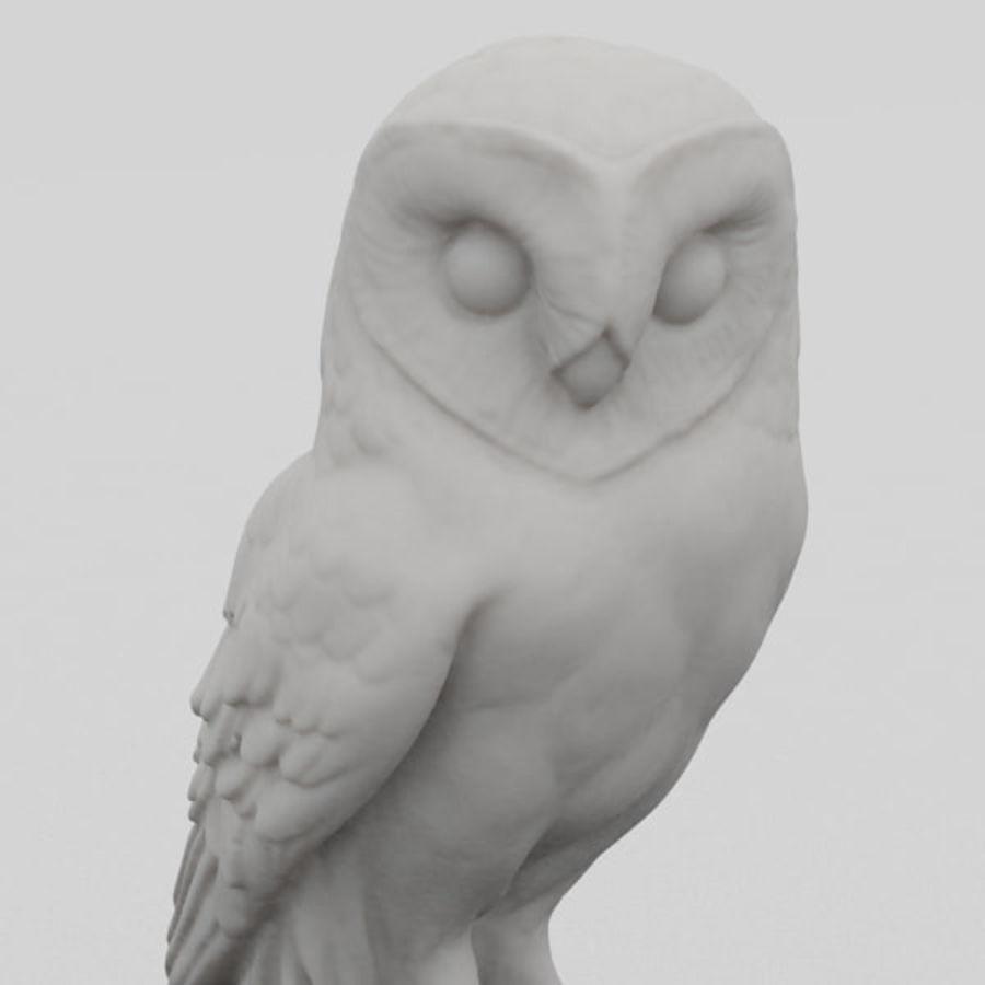 猫头鹰雕像3D扫描 royalty-free 3d model - Preview no. 2