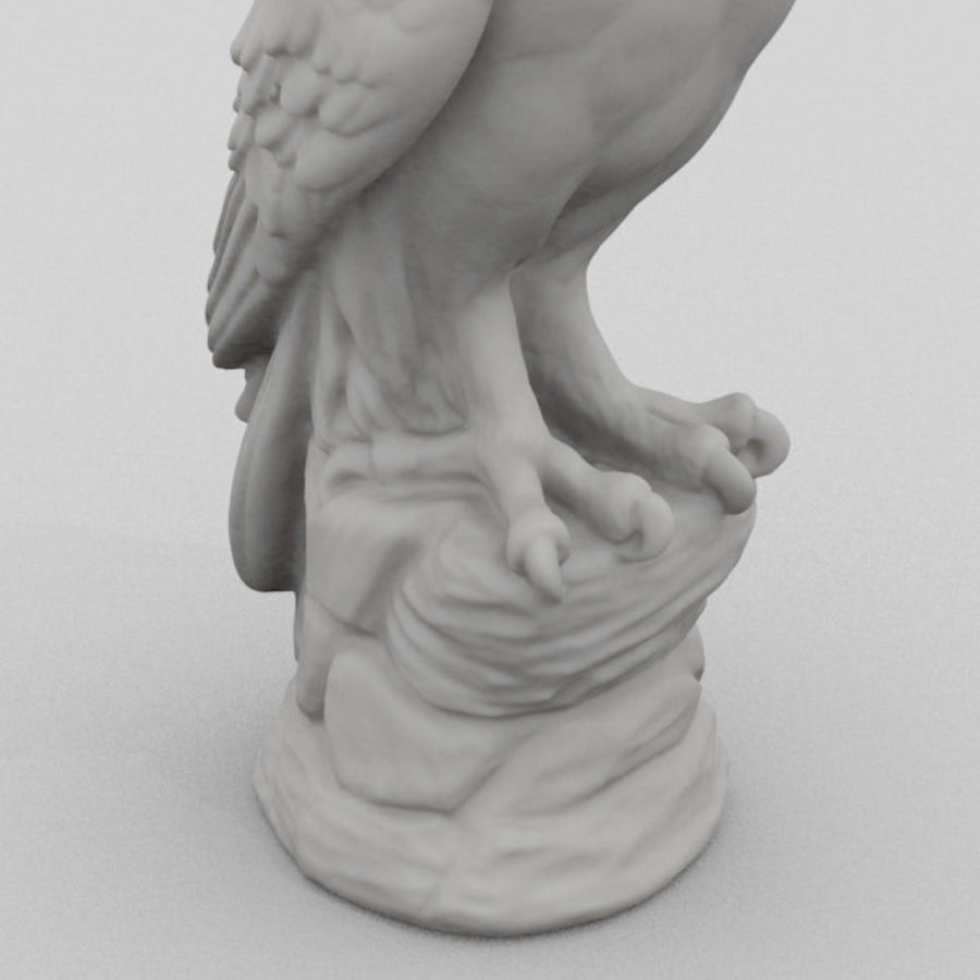 Owl Statue 3D Scan royalty-free 3d model - Preview no. 3