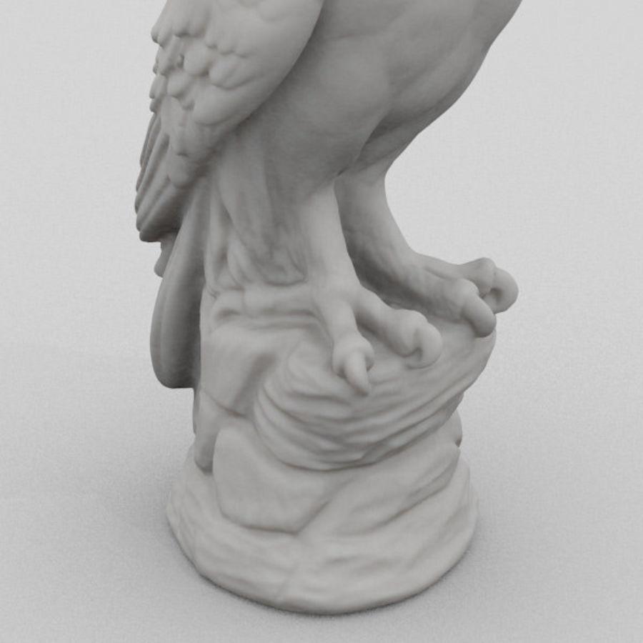 猫头鹰雕像3D扫描 royalty-free 3d model - Preview no. 3
