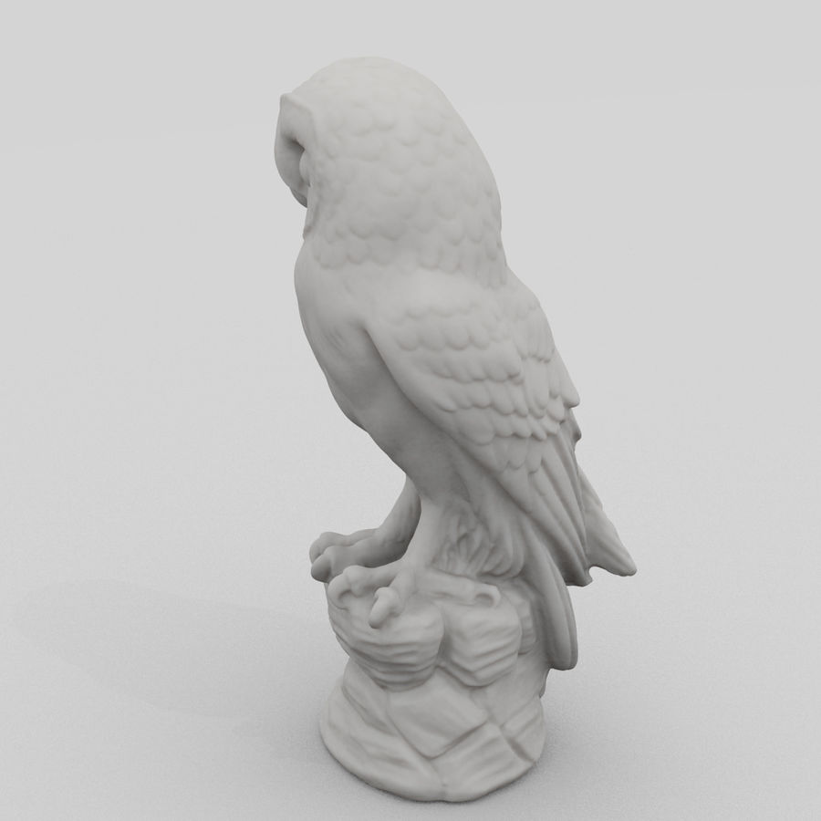 Owl Statue 3D Scan royalty-free 3d model - Preview no. 4