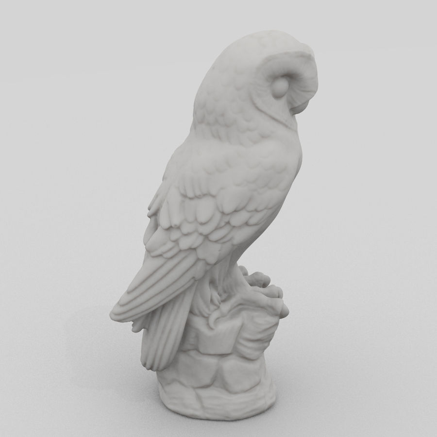 Owl Statue 3D Scan royalty-free 3d model - Preview no. 6