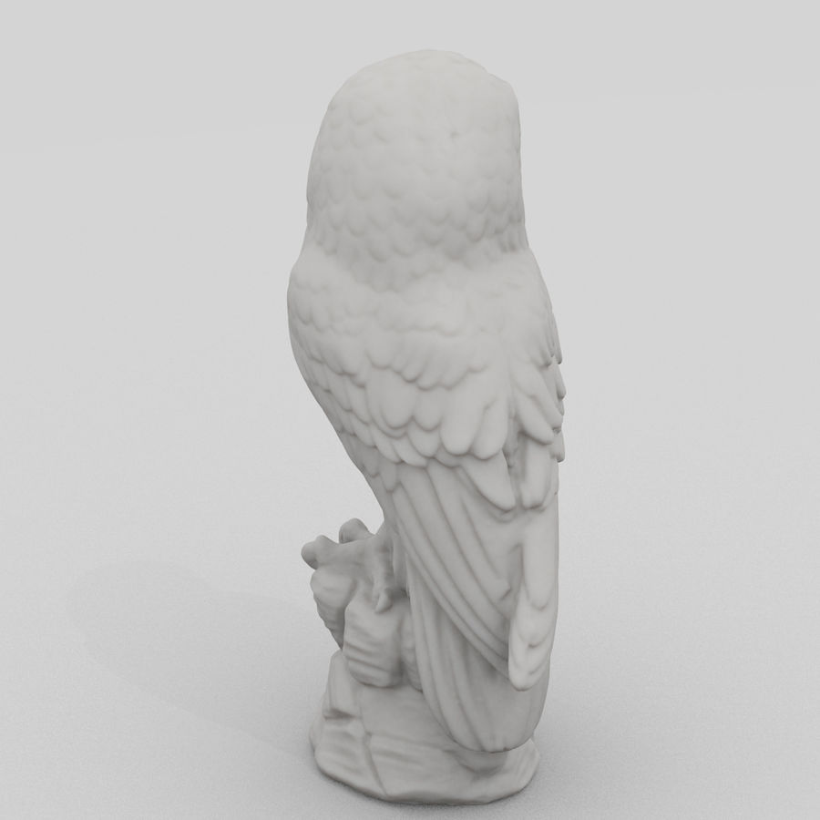 Owl Statue 3D Scan royalty-free 3d model - Preview no. 5