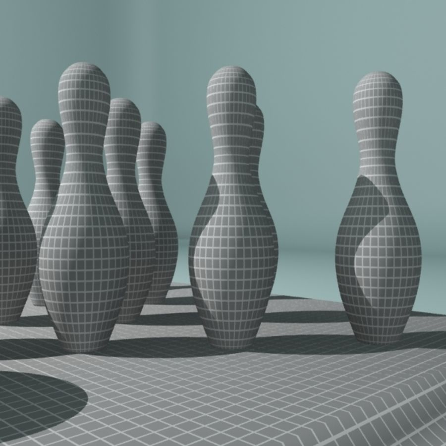 Bowling Ball & Pins royalty-free 3d model - Preview no. 9