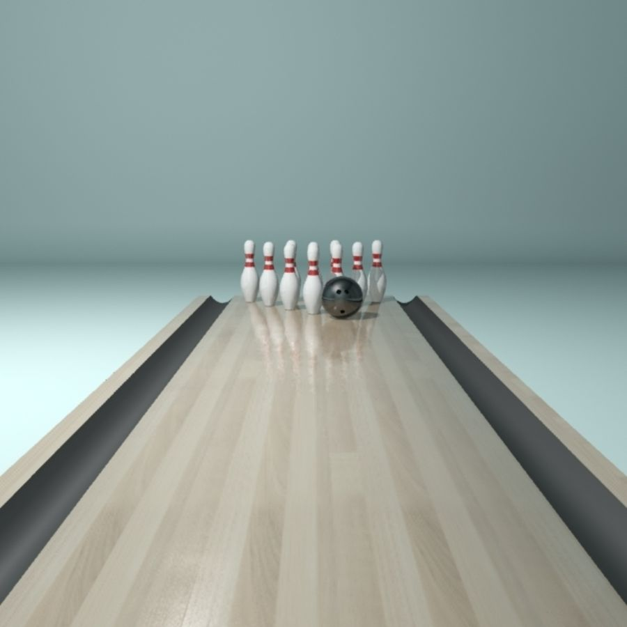 Bowling Ball & Pins royalty-free 3d model - Preview no. 6