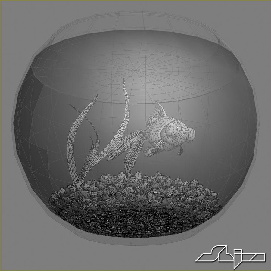 Aquarium with gold fish royalty-free 3d model - Preview no. 7