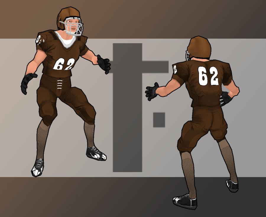 Jugador de futbol americano royalty-free modelo 3d - Preview no. 8