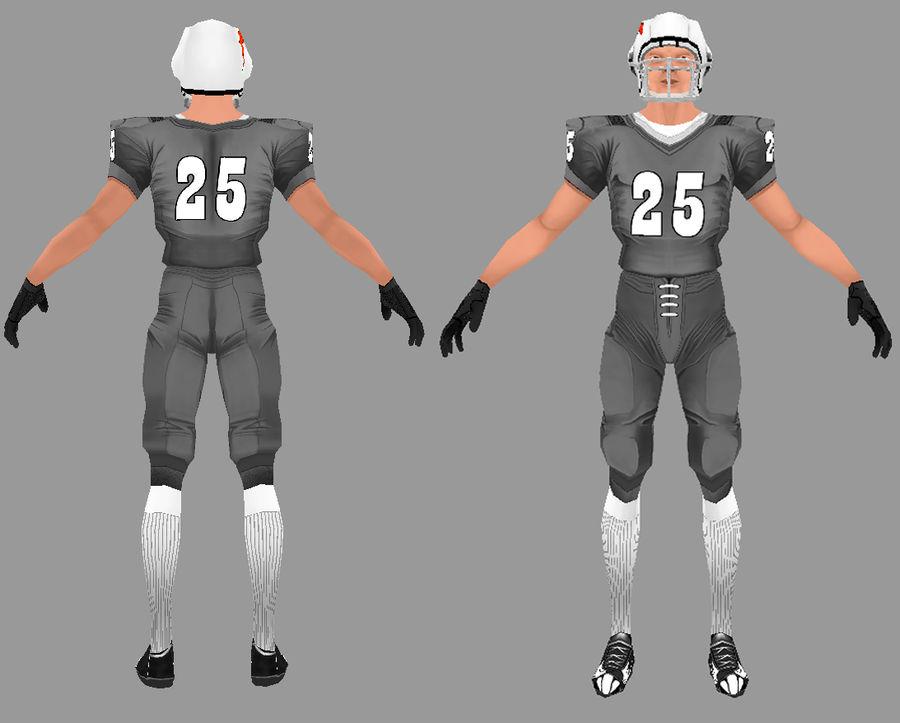 Jugador de futbol americano royalty-free modelo 3d - Preview no. 4