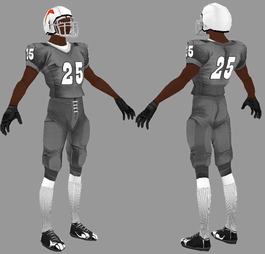 Jugador de futbol americano royalty-free modelo 3d - Preview no. 3