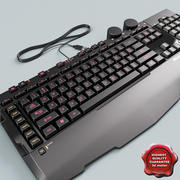Keyboard Microsoft Sidewinder X6 3d model