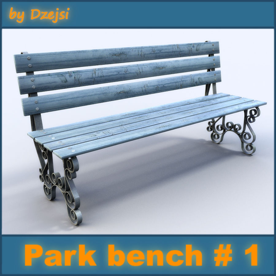 Parkbänk # 1 royalty-free 3d model - Preview no. 1