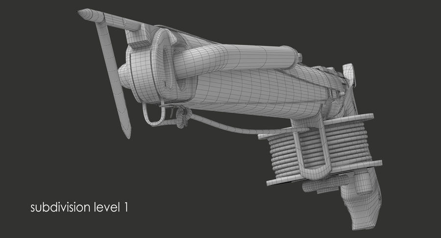 Fucile royalty-free 3d model - Preview no. 11
