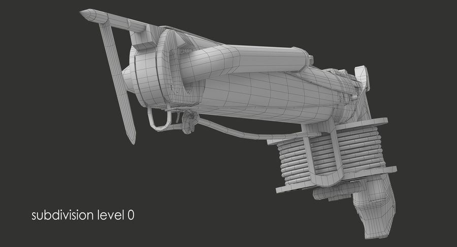 Fucile royalty-free 3d model - Preview no. 10