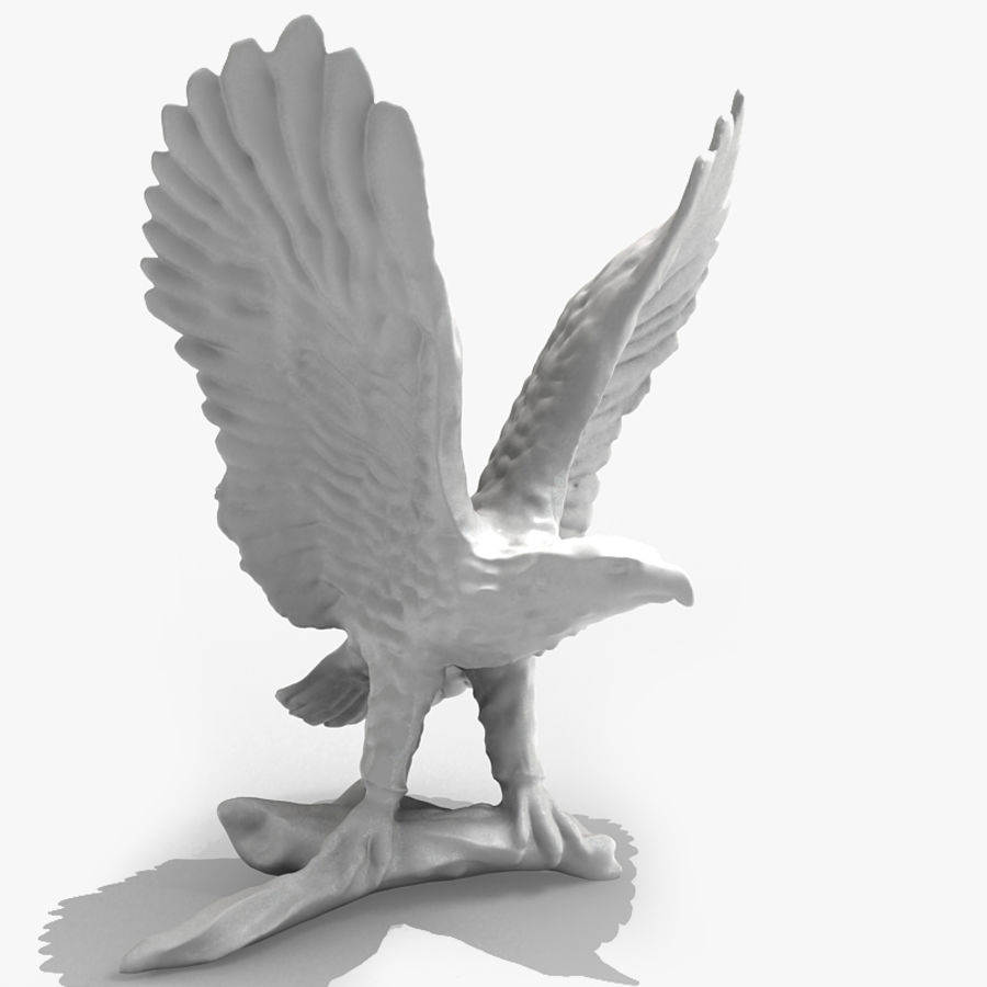 Eagle Figurine royalty-free 3d model - Preview no. 1