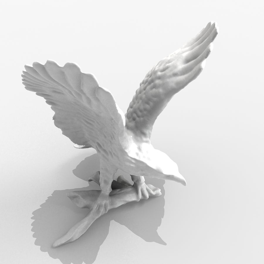 Eagle Figurine royalty-free 3d model - Preview no. 6