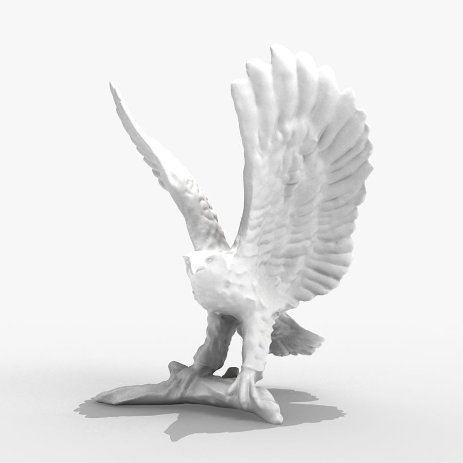 Eagle Figurine royalty-free 3d model - Preview no. 3