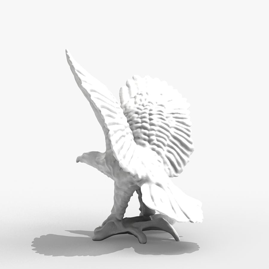 Eagle Figurine royalty-free 3d model - Preview no. 4