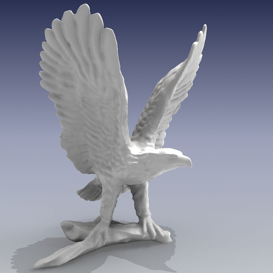 Eagle Figurine royalty-free 3d model - Preview no. 2