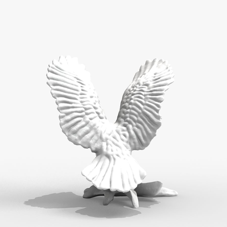 Eagle Figurine royalty-free 3d model - Preview no. 5
