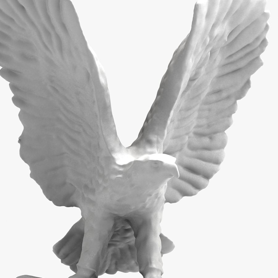 Eagle Figurine royalty-free 3d model - Preview no. 7