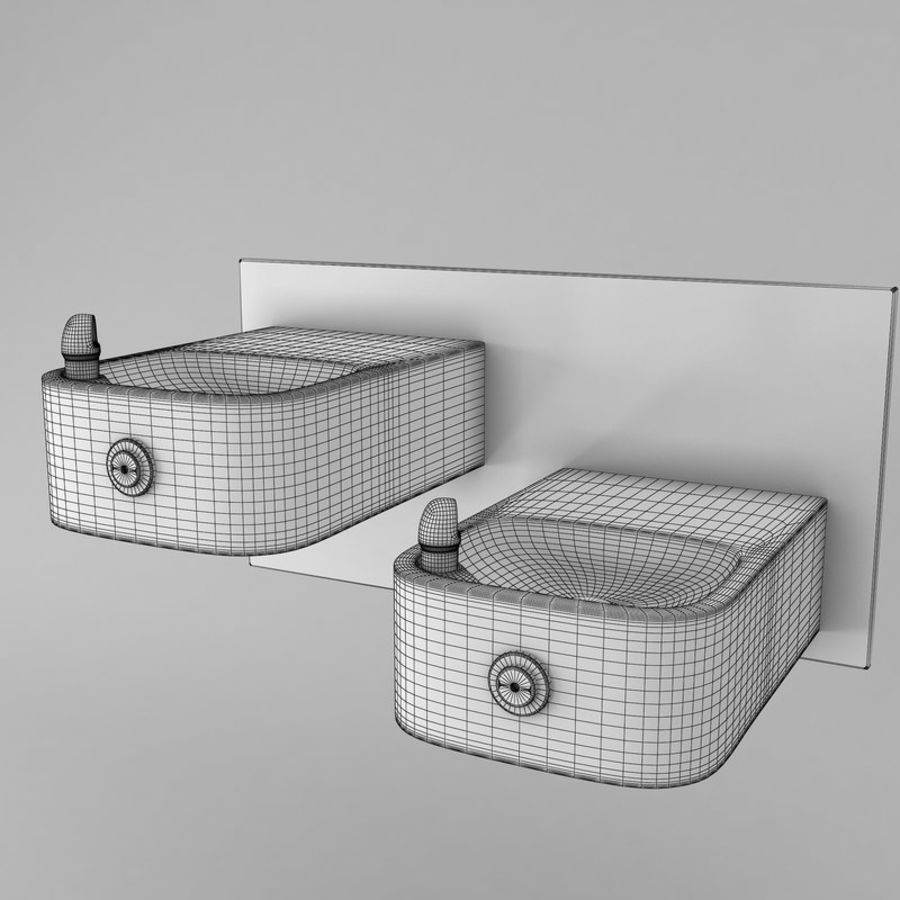 Drinking fountain royalty-free 3d model - Preview no. 2