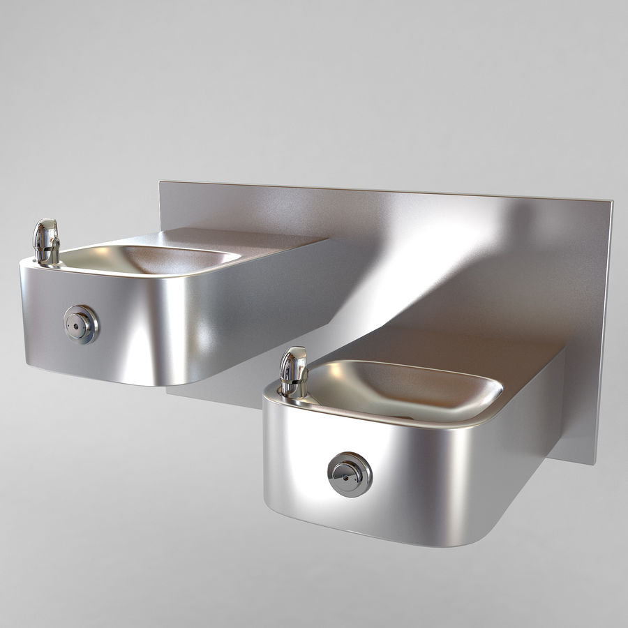 Drinking fountain royalty-free 3d model - Preview no. 1