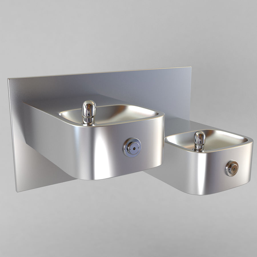 Drinking fountain royalty-free 3d model - Preview no. 3