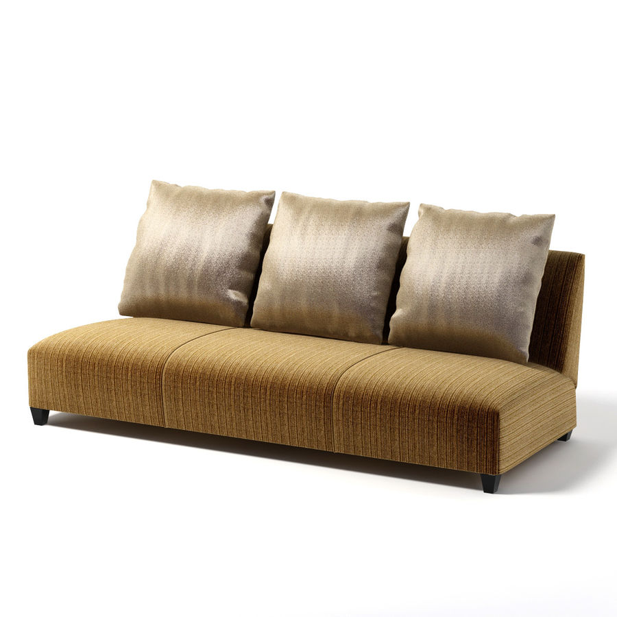 Donghia - VILLA ARMLESS SOFA 0303 royalty-free 3d model - Preview no. 3