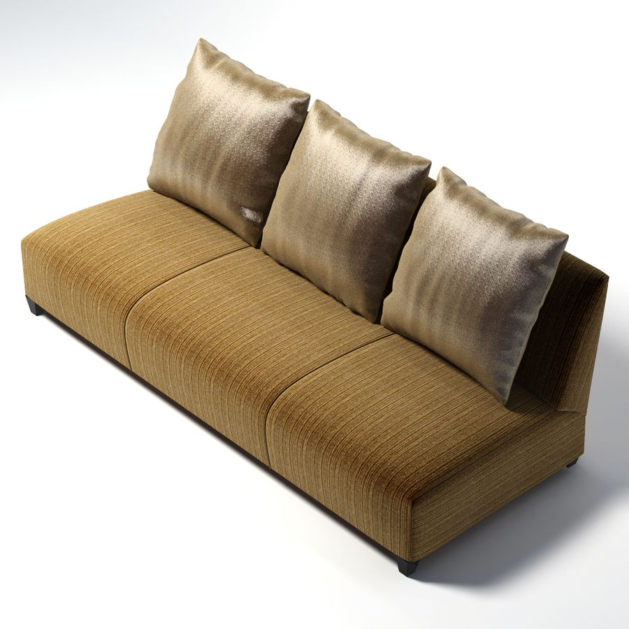 Donghia - VILLA ARMLESS SOFA 0303 royalty-free 3d model - Preview no. 4