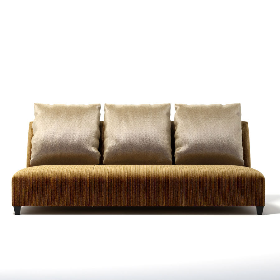 Donghia - VILLA ARMLESS SOFA 0303 royalty-free 3d model - Preview no. 2