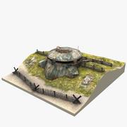 Сцена бункера 3d model