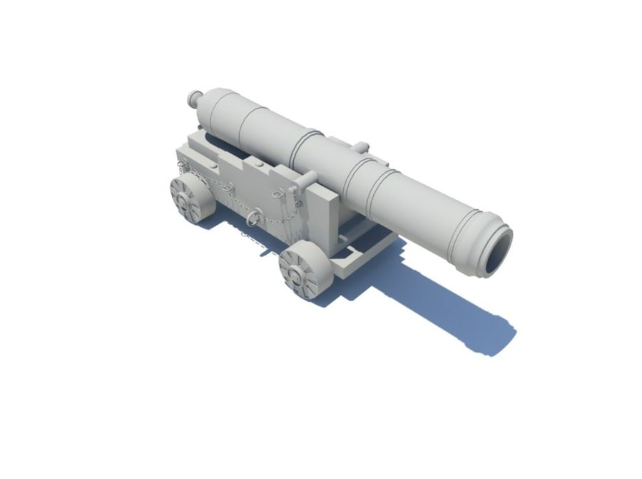 Cannon royalty-free 3d model - Preview no. 1
