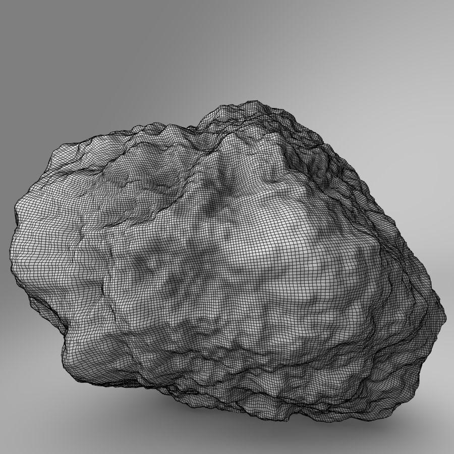Asteroide o roccia royalty-free 3d model - Preview no. 3