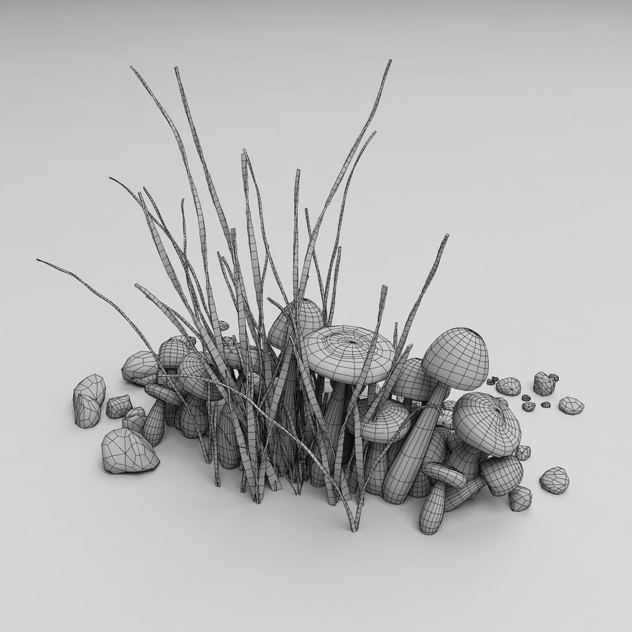 Champignons royalty-free 3d model - Preview no. 8