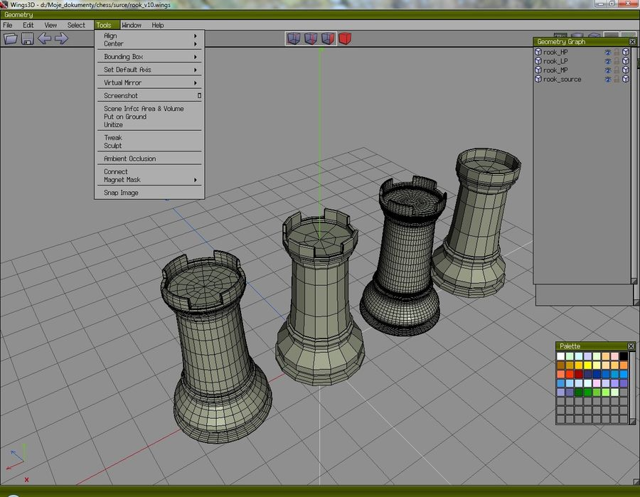 chess royalty-free 3d model - Preview no. 14