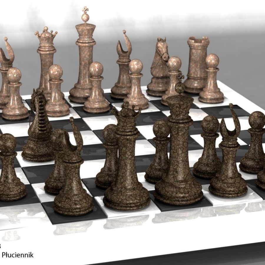 chess royalty-free 3d model - Preview no. 7