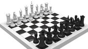 шахматы 3d model